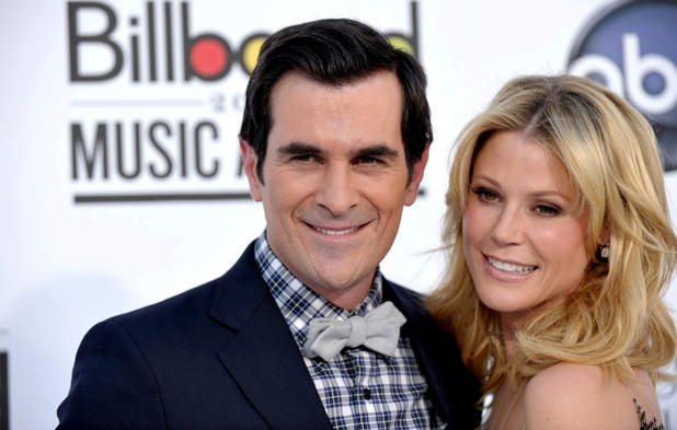 Hosts Ty Burrell and Julie Bowen