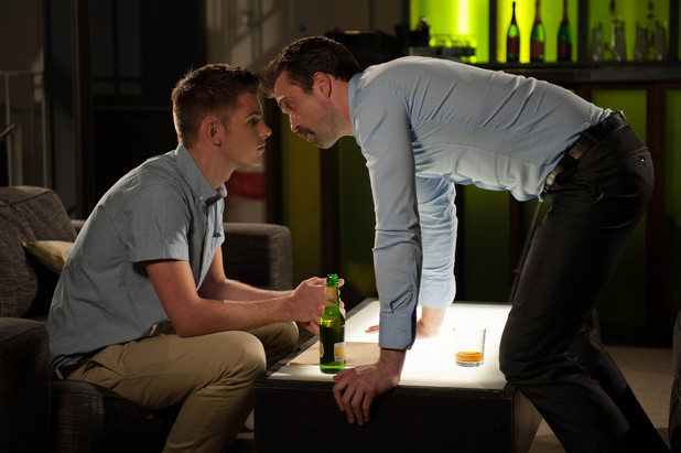 Ste Hay and Brendan Brady share a kiss
