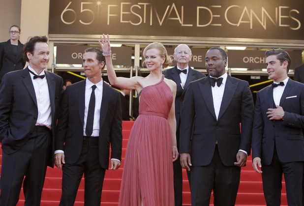 John Cusack, Matthew McConaughey, Nicole Kidman, director Lee Daniels, and Zac Efron arrive for the screening of The Paperboy at the 65th international Cannes Film Festival