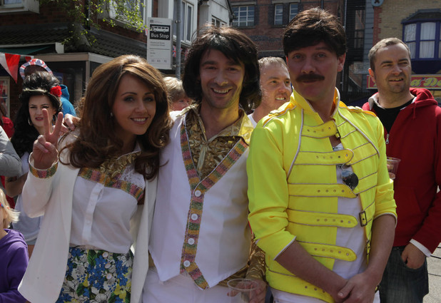 Sean as Freddie Mercury and Maria and Marcus as The Osmonds