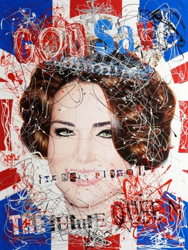 Zoobs &#39;God Save The Future Queen&#39; print of Kate Middleton