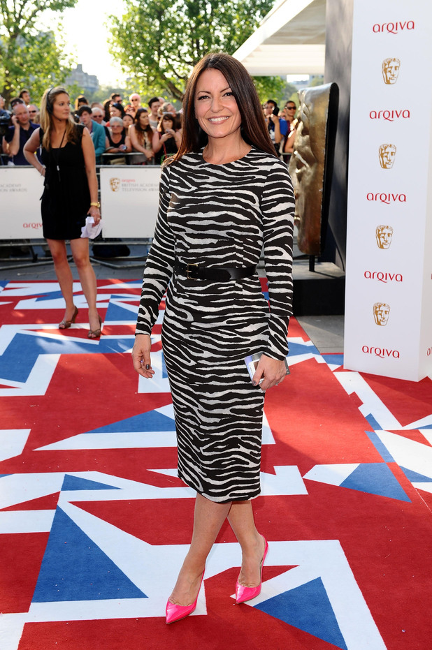 Davina McCall arriving for the Arqiva British Academy Television Awards 2012 at the Royal Festival Hall, London.