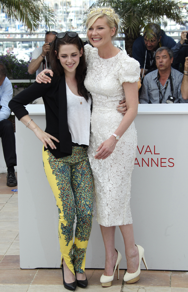 Kirsten Dunst, right, and Kristen Stewart