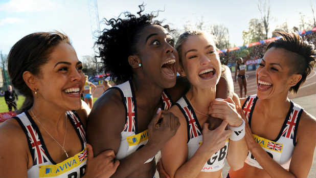 Noel Clarke and Lenora Crichlow star in 'Fast Girls', an Olympics-themed sports movie about 4 girls in a relay team competing for the world athletics championship.