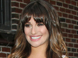 Glee star Lea Michele outside The Ed Sullivan Theater for 'The Late Show With David Letterman'
