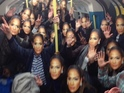 A collection of masked Jennifer Lopez's take over the underground.