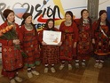 A group of singing grannies use folk music to represent Russia at Eurovision.