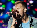 Chris Martin sings a line from 'What Makes You Beautiful'.