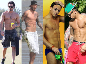 Joe Manganiello, David Beckham, Tom Daley, Aston Merrygold