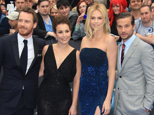 Michael Fassbender, Noomi Rapace, Charlize Theron, Logan Marshall-Green arriving at the 'Prometheus' world premiere, held at the Empire, Leicester Square