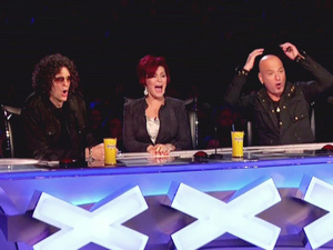 Howard Stern, Sharon Osbourne and Howie Mandel