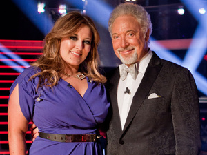 The Voice UK Live Final: Leanne with her mentor Tom Jones.