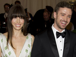 Jessica Biel and Justin Timberlake at the Met Ball 2012