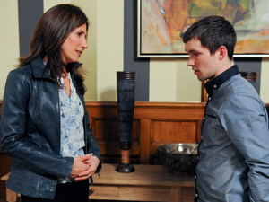 Megan feels a prang of guilt talking to Robbie and tells him he can carry on living there if they take things slowly