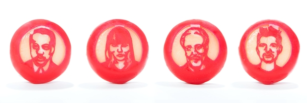 The four Voice UK judges in Mini Babybel form