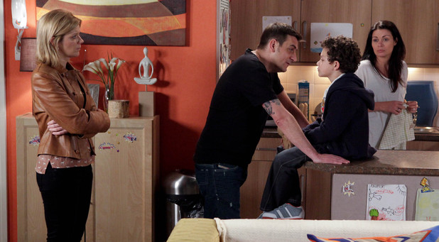 Carla is shocked to witness Peter as he questions Simon over who he would rather live with