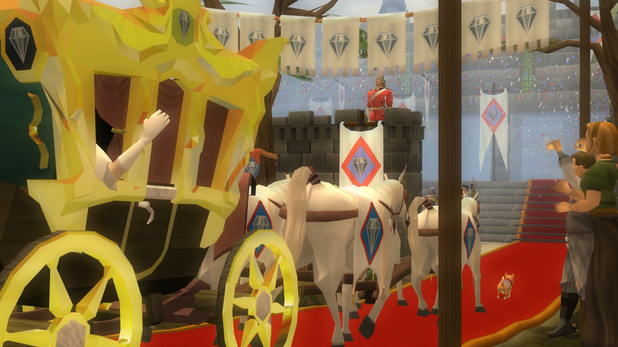 The Queen visiting the online games world of RuneScape