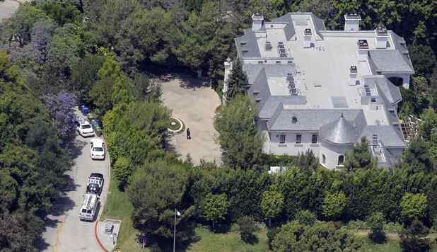 Michael Jackson&#39;s rented home in Holmby Hills, Los Angeles. The singer was staying here when he died in June 2009 and the property may have found a buyer as of May 31, 2012.