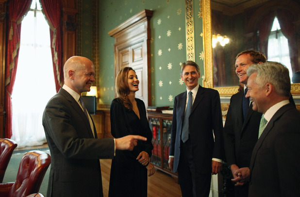 Philip Hammond, Jeremy Browne, Lynne Featherstone and Alan Duncan, Angelina Jolie
