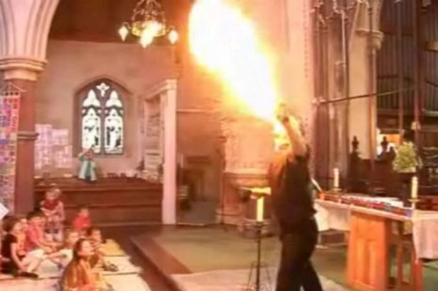 Fire-breathing vicar Nick Davies