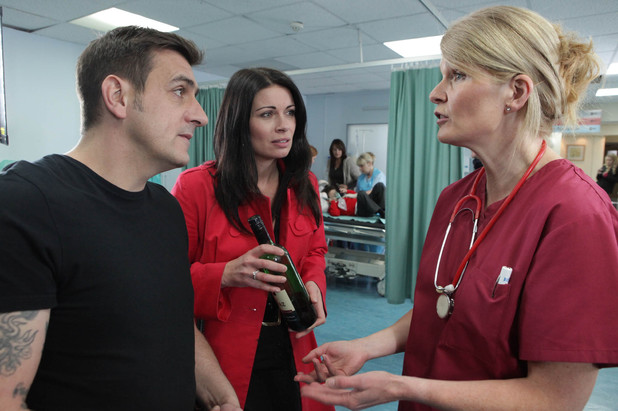 Peter and Carla rush Simon to the hospital where they try to explain to the nurse what happened to him