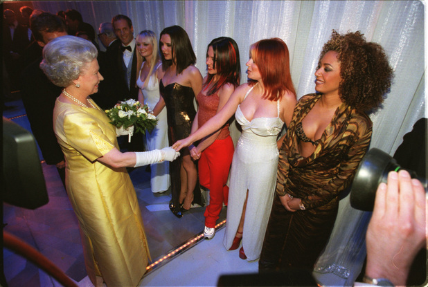 The Spice Girls and the Queen