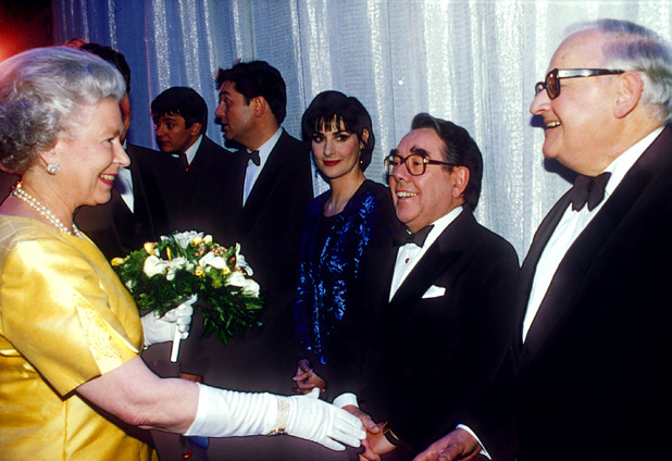 The Queen and Ronnie Barker and Ronnie Corbett