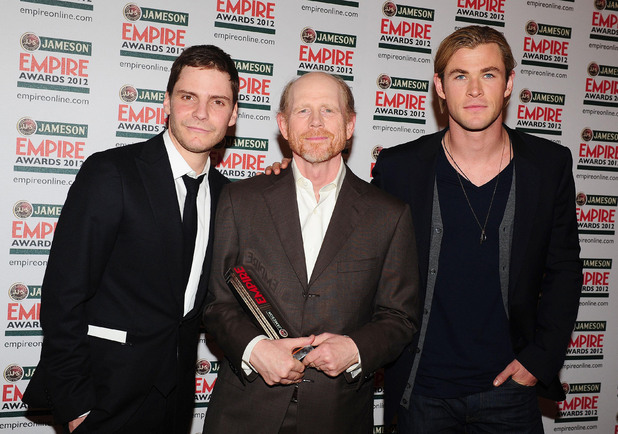 Daniel Bruhl, Ron Howard, Chris Hemsworth - Jameson Empire Film Awards 2012