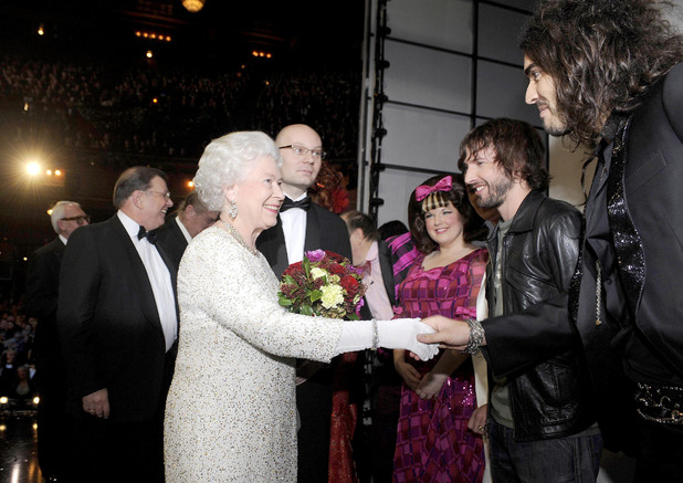 The Queen and Russell Brand