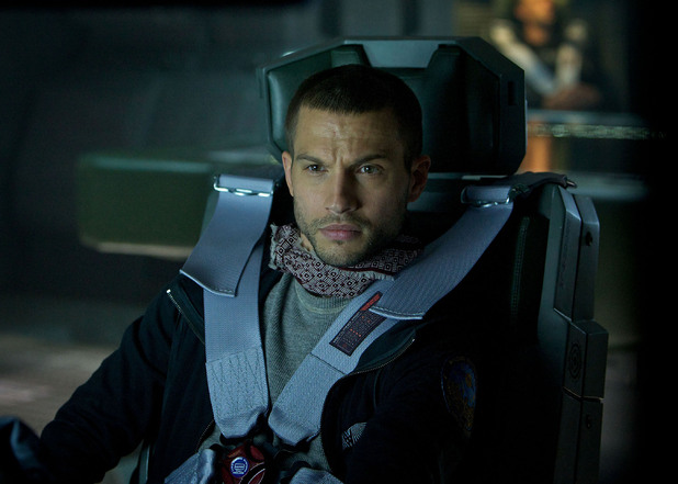 Logan Marshall-Green on the set of Ridley Scott's new movie 'Prometheus' 2012