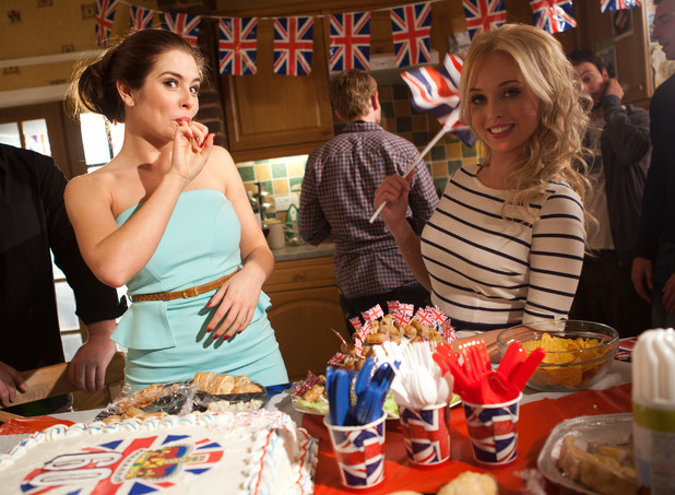 Hollyoaks - Behind the scenes at the McQueens' Jubilee party