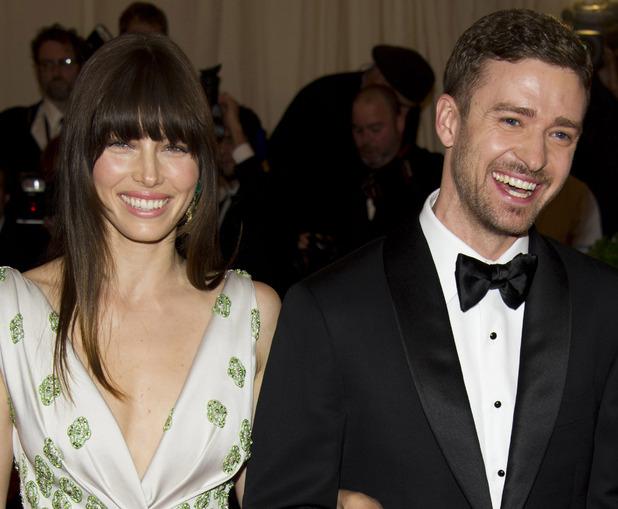 Jessica Biel and Justin Timberlake at the Met Ball 2012