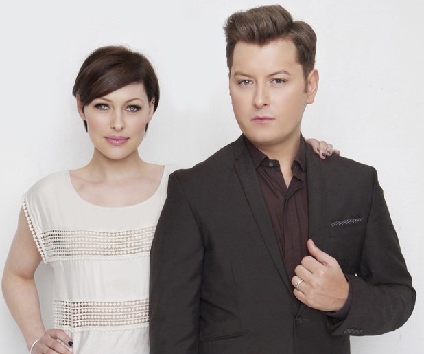 Emma Willis and Brian Dowling