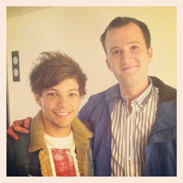 Louis Tomlinson and Chris Baio