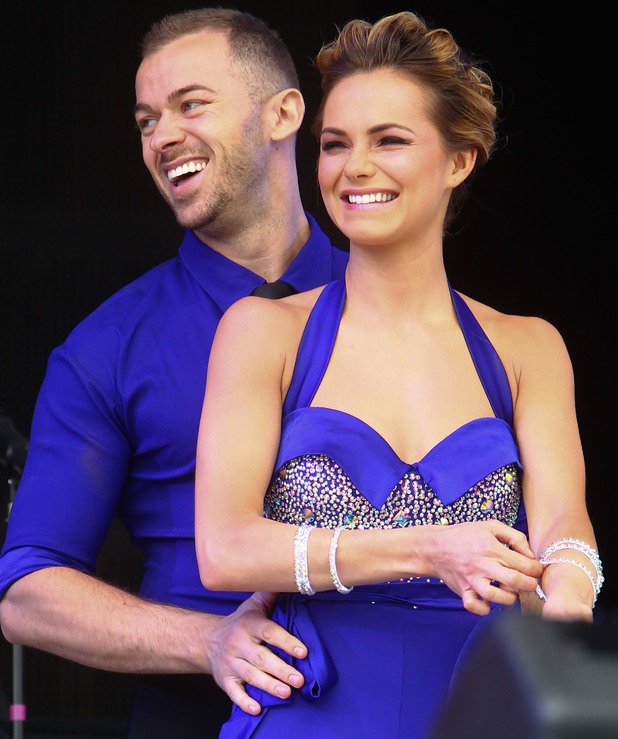 Artem Chigvintsev and Kara Tointon performing at Jubilee Family Festival at Hyde Park. London, England - 02.06.12