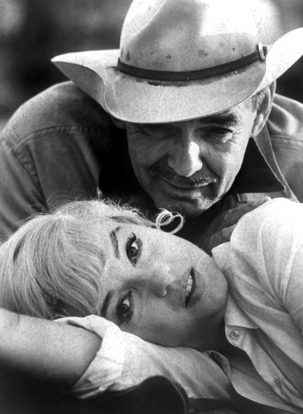 Marilyn Monroe alongside Clark Gable