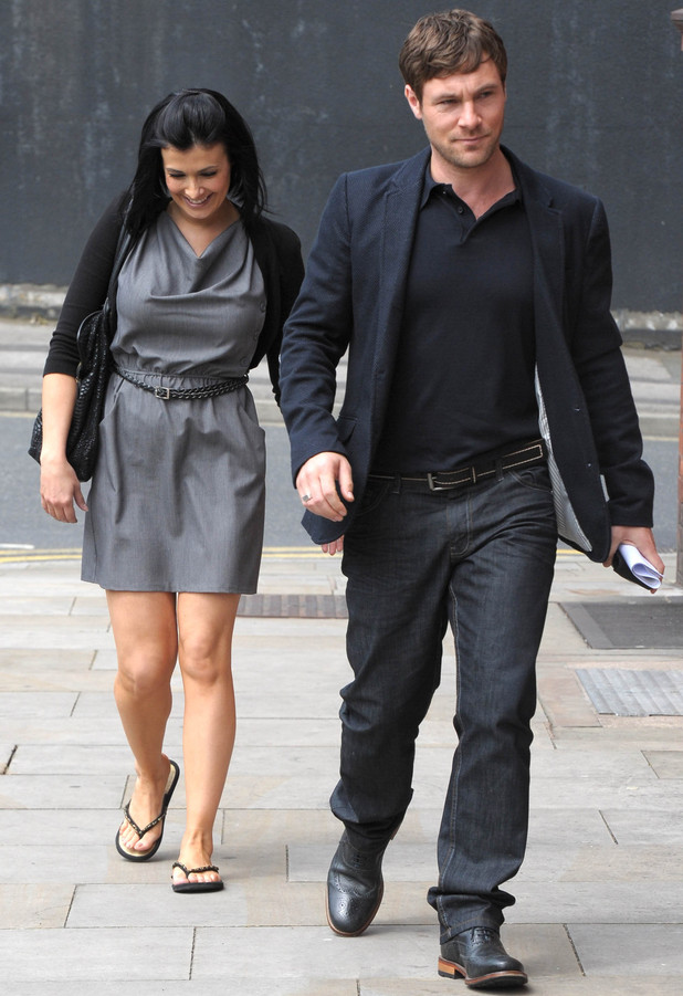 Kym Marsh and Mark Baylis leave the Granada studios after filming for &#39;Coronation Street&#39;
