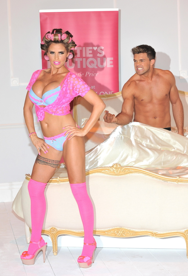 Katie Price models own line of lingerie