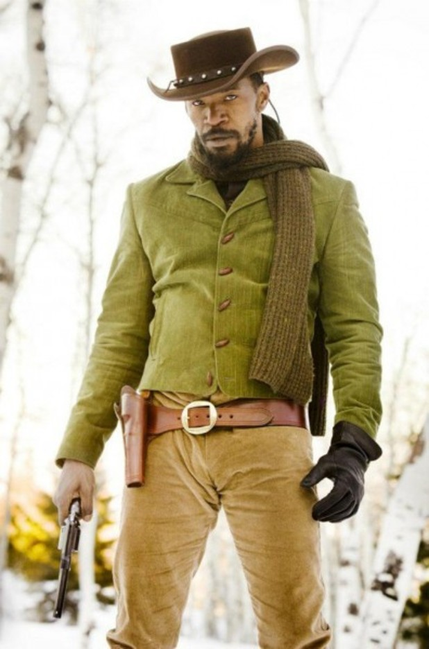 Jamie Foxx as Django in Quentin Tarantino's <em>Django Unchained</em>.