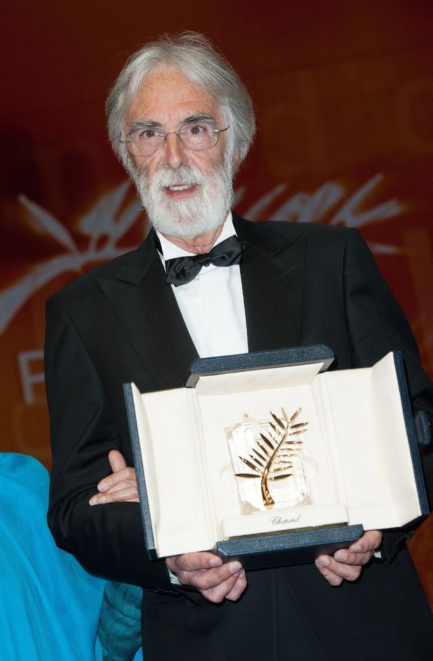 Michael Haneke receives the Palme D'Or for 'Amour'