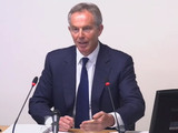 Former Prime Minister Tony Blair gives evidence to the Leveson Inquiry