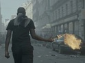Rioters and police clash in the hip-hop pair's latest visual.