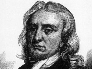 Illustration of Sir Isaac Newton