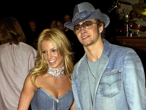Britney Spears, Justin Timberlake, celebrity couples, matching outfits