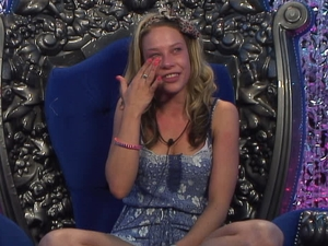 Big Brother Day 5: Lauren in the diary room.