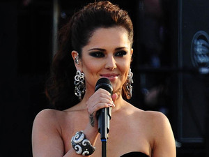 Cheryl Cole on stage outside Buckingham Palace during the Diamond Jubilee Concert.