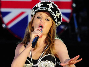 Kylie Minogue on stage outside Buckingham Palace during the Diamond Jubilee Concert.