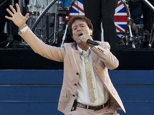 Sir Cliff Richards on stage outside Buckingham Palace during the Diamond Jubilee Concert.