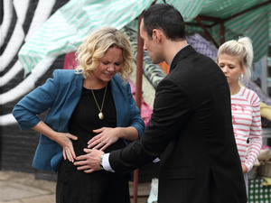 The allegations against Michael start to effect Janine and the baby.