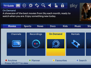 Sky+ HD electronic programme guide